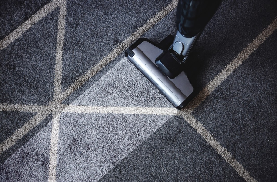 disinfecting a rug with vacuum