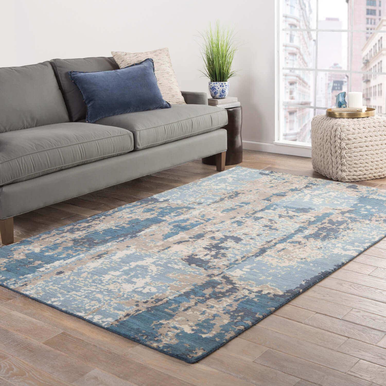 handmade blue carpet or rug