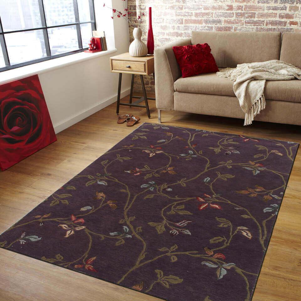 handmade modern rug