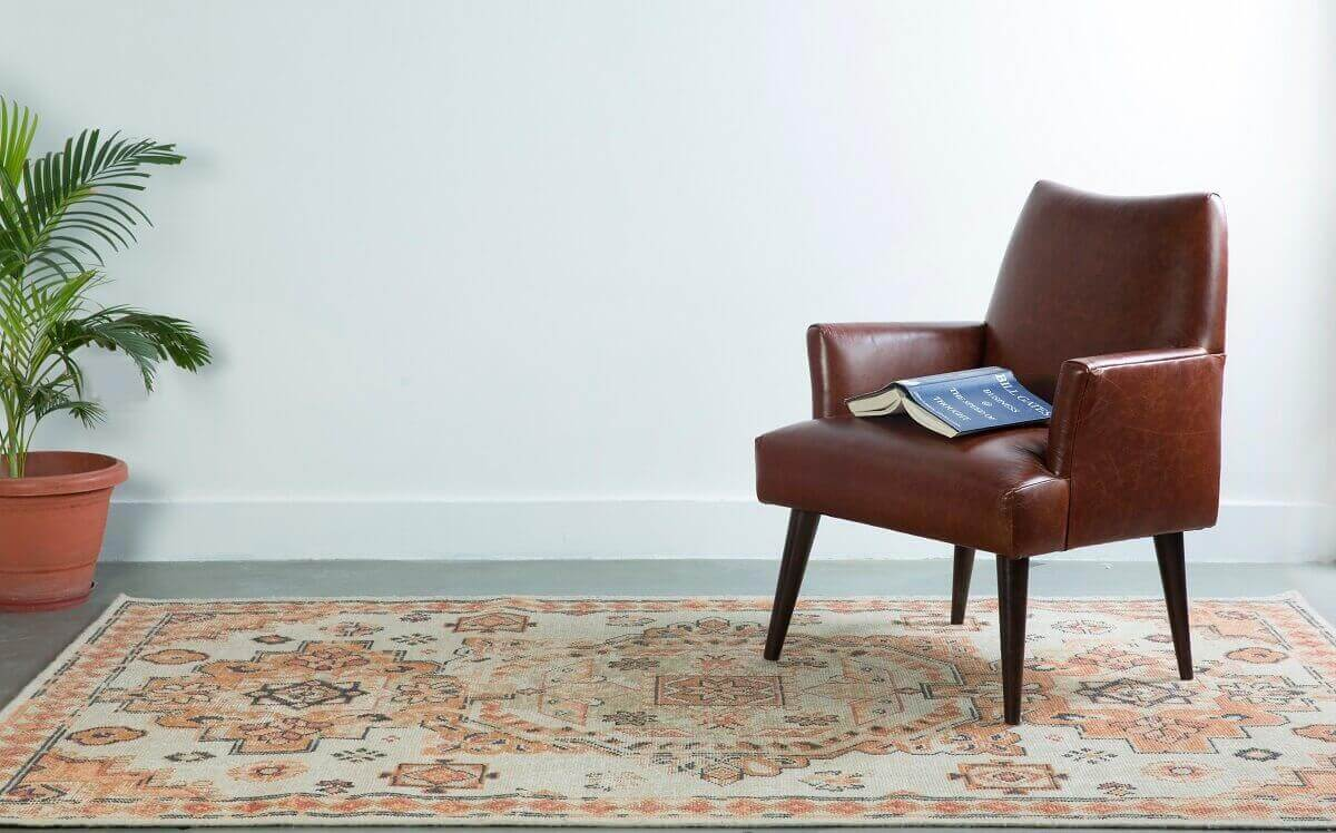 soft-orange-color-rug-for-and-office